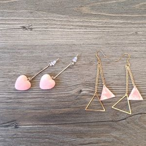 Jewelry - Bundle earings! Pink!